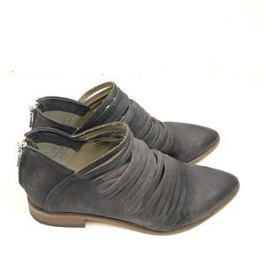 Free People Lost Valley Distressed Grey Ankle Boot